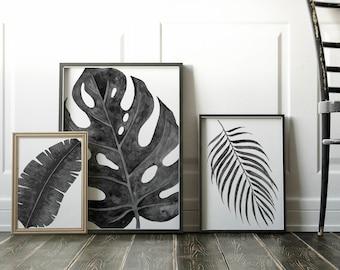 Home Decor, Banana Leaves, Wall Art, Banana Leaves Decor, Tommy Bahama, Printable, Tropical, Banana Leaf Art, Banana Leaves Print