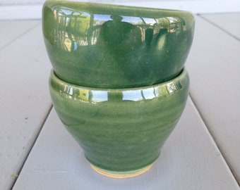 Green Cup, Small Cup. Matching Cups