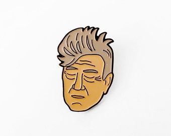 David Lynch Enamel Pin - Illustrated Enamel Brooch
