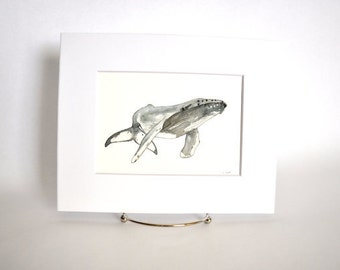 Original Watercolor Humpback Whale