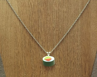 Plastic California Roll Sushi Necklace