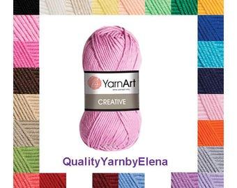Creative YarnArt 100% cotton yarn knitting crochet by Yarnart creative 50g 85m (93  yards)