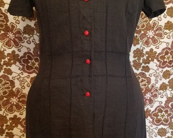 Vintage * 1950's  Day Dress by House of Lords * Button Front