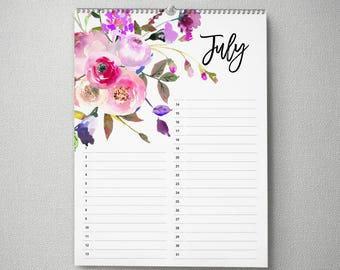 Perpetual Birthday Calendar, 11x14, Calendar, cal0051