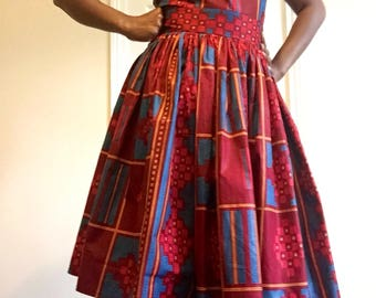 Ankara African  Dress in Vibrant Colours ,