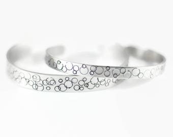 Bangle Bracelet, Sister Gift, Girlfriend Gift, Cuff Bracelet, Fashion Bracelet, Silver Bracelet, Everyday Bracelet, Metal Jewelry