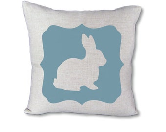 Easter Bunny pillow cover on Canvas in 46 color options