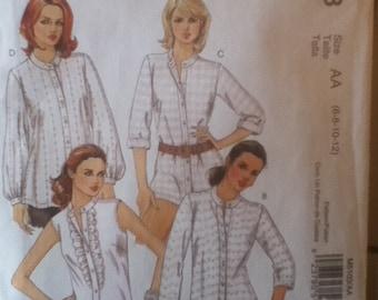 """McCall's Shirt Pattern 5103 Size: 6-12,  Bust 30""""-34"""", Waist 23""""-26"""", Hip 32""""-36"""""""