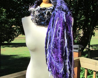 Winter scarf for women, knit fringe scarf, loose knit scarf, Chunky Knit Scarf, handknit scarf, Womens gifts, Womens scarves, gifts for her