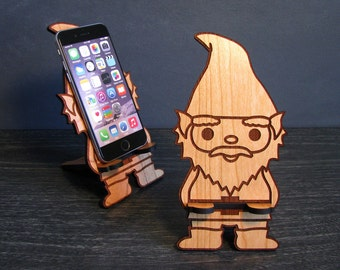 PHONE GNOME - Universal Smart Phone Stand iPhone Dock - Fits iPhone 6, iPhone Plus, iPhone 5, iPhone 4, Android, Samsung Galaxy s5 s4, Lg
