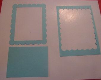 square scallop frame die cuts