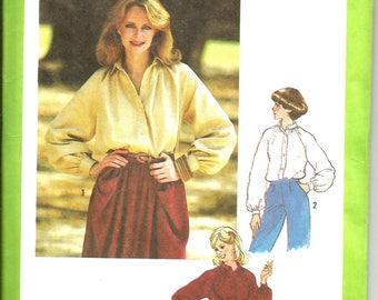 Simplicity 8704 vintage 1978 uncut size 14 womans blouse