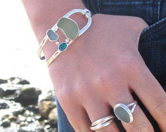 Sea Glass Ring | Sterling Silver & Authentic Sea Glass Ring | Beach Glass Ring | Eco Friendly | Hand made | Sea Glass Jewelry