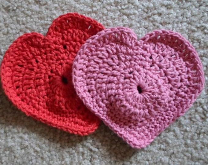 Heart Coaster - Crochet Heart Coaster - Cute Decoration for Valentine's Day