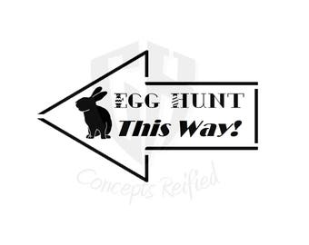 Easter Egg Hunt Sign Reusable Stencil - Multiple Sizes Available