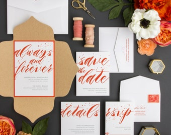 Always and Forever Wedding Invitation Suite