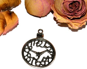 30X03mm Silver Pocket Watch pendant!