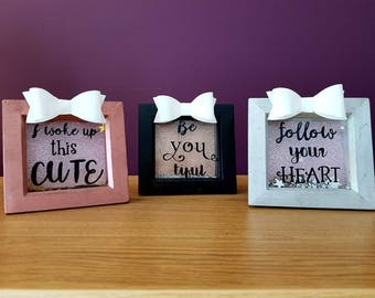 Small Bow Quote Frame