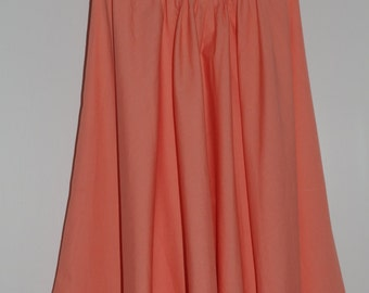 Robe bustier corail vintage années 60 Taille 32-34 FR