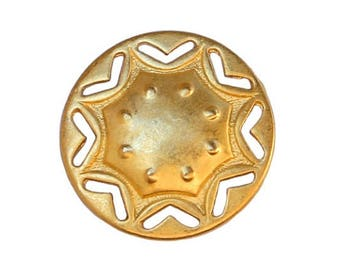 6 Baldwin 3/4 inch ( 20 mm ) Metal Buttons Gold Color