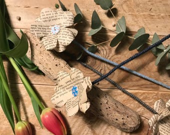 Single Button Paper Flower (Book Pages) by The Craftea House