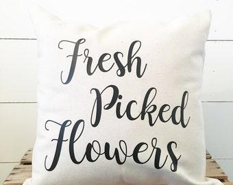 Fresh Picked Flowers Pillow Cover. Farmhouse Pillow Cover. Pillow Case. Throw Pillow. Custom Pillow Cover. Boho pillow cover. Home decor