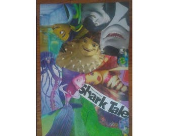 "Shark Tale Movie Pop Culture 11"" By 17"" Handmade Collage Poster"