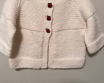 Hand Knit size 12 month Baby Sweater