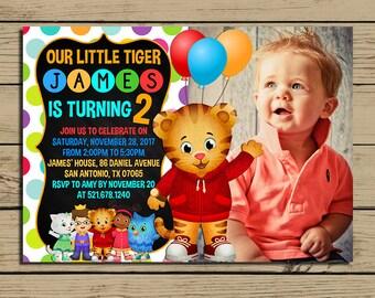 Tiger invitation Etsy