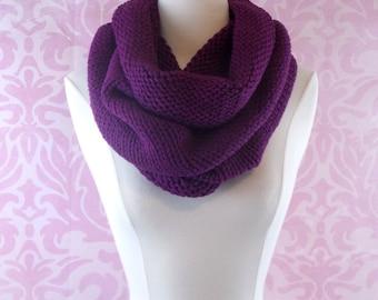 Purple turtleneck infinity scarf