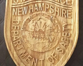 New Hampshire State Police Department of Safety plaque