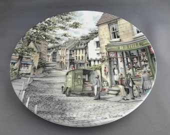 Royal Doulton collectible plate - The General Store 1990, part of the 'Window Shopping' series