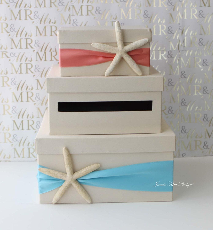 wedding card box beach theme starfish wedding card holder