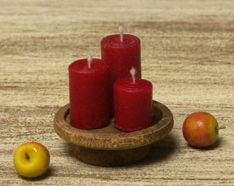 Miniature Pillar Candle Stand for Your Dollhouse