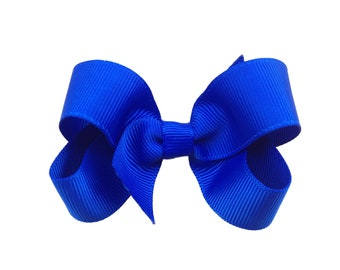 Royal blue hair bow - hair bow, hair bows, bows, hair bows for girls, baby bows, pigtail bows, toddler bows, girls bows, hair clip, hairbows