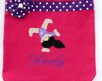 Personalized Tote Bag, Personalized Tote, Gymnastics Tote Bag, Gymnastics Tote, Gymnastics Gift, Personalized Gymnastics