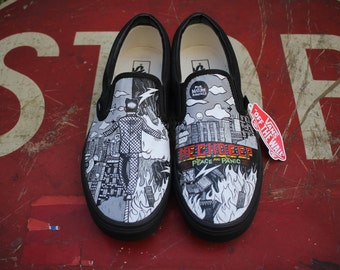 Neck Deep The Peace and The Panic Custom Vans