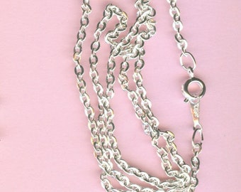 Silver Neck Chains - 18 Inch Flat Cable Chain - Package of 70 chains
