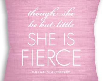 Si elle se mais peu elle est féroce - William Shakespeare - Custom oreiller - coussin - décor de la maison - chambre de bébé - coussin