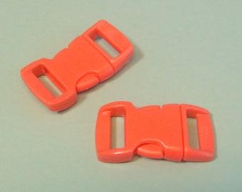 "10pc 3/8"" Water Melon Contoured Side Release Buckles For Paracord Bracelets H78-3 (10pc)"