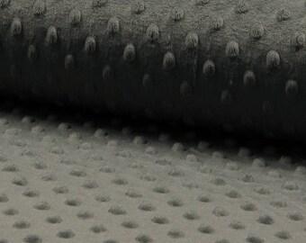 COUPON 50X75CM - Minkee dot - grey
