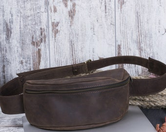 Leather Belt Bag Brown Leather Bag Leather Bag Handmade Leather Fanny Pack Belt Bag For Men Waist Bag Women Waist Bag Bum Bag Hip Bag