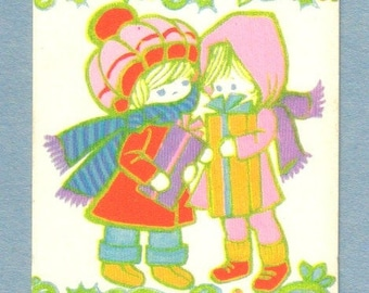 Vintage Gift Card, Two Girls, Gibson  (436-10)