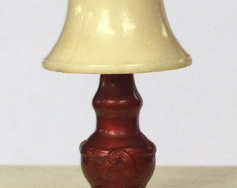 Renwal Bronzed Table Lamp Vintage Renwal Dollhouse Furniture Accessory 1:16