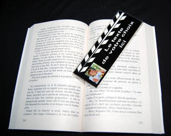 Personalized bookmark clap cinema 1 photo and text of your choice