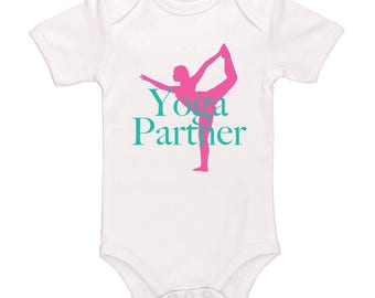 Yoga Partner Bodysuit - Cute Yoga Baby Clothing For Baby Girls, Adorable One-Piece Outfit