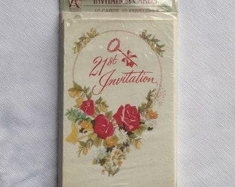 Vintage | 21st Birthday | Invitations