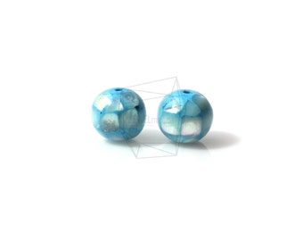 PEA-008-G/4PCS/ Mother of Pearl Mosaic round ball/10mm/Mother of Pearl ball beads