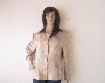Vintage 80s silk jacket silk blazer Blazer Antonette Franz Hof m
