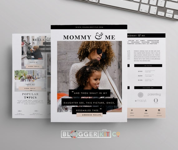 Influencer Media Kit Template  Press Kit Template  Electronic